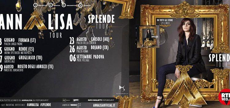 Annalisa Scarrone: nuove date dello Splende Tour