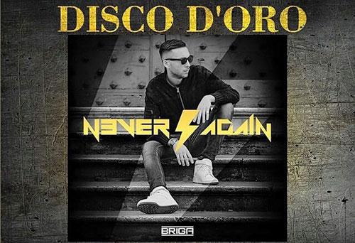 Briga conquista il disco d'oro per Never Again