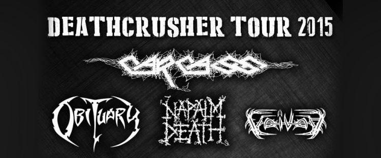 Deathcrusher Tour 2015 – info e biglietti