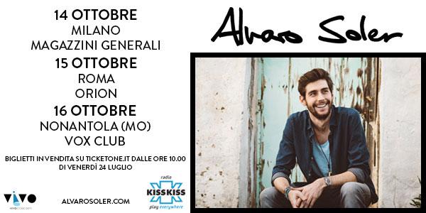 Alvaro Soler: 3 concerti a ottobre 2015 – biglietti