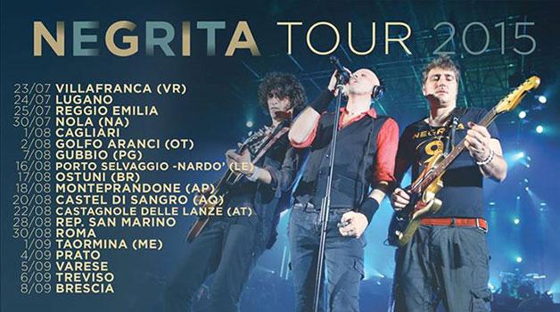 Al via il tour dei Negrita stasera a Verona – date e biglietti