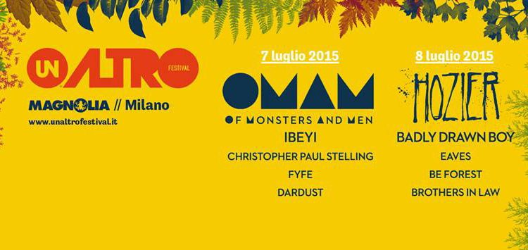 Unaltrofestival 2015 con Of Monsters And Men e Hozier