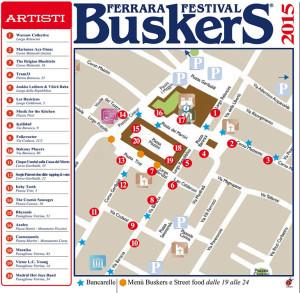Ferrara Buskers Festival piantina-con-la-postazione-degli-artisti