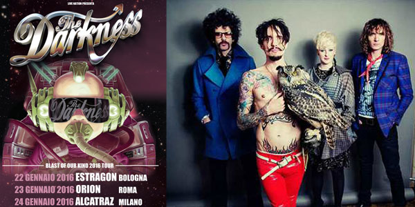 the darkness in concerto in italia 2016