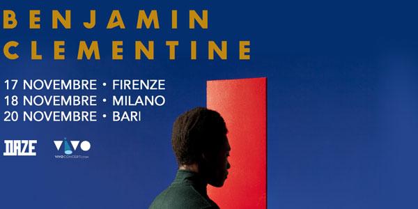 Benjamin Clementine concerti italia novembre 2015