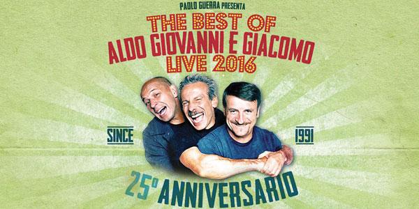 The Best of Aldo, Giovanni e Giacomo Live 2016 – biglietti