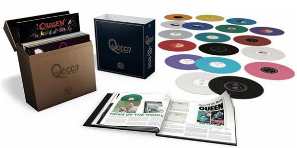 Queen: nuovo box-set con tutti gli album in vinili colorati