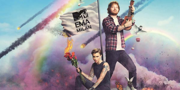 Ed Sheeran e Ruby Rose presenteranno gli MTV EMA 2015