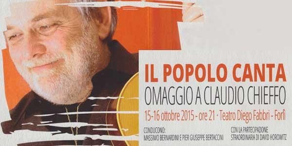 """Claudio Chieffo: a Forlì """"Il Popolo Canta"""" in suo onore"""