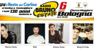 radio bruno estate 2015 bologna marco carta nek
