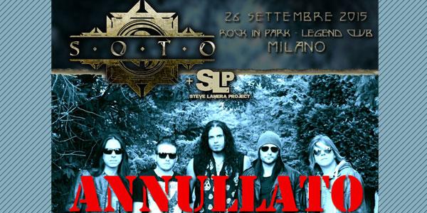 SOTO: annullato il concerto a Milano, modalità di rimborso biglietti