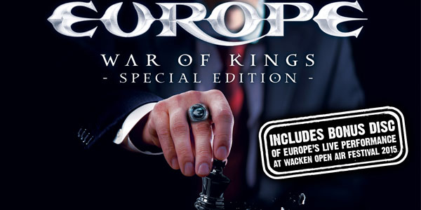 Europe: arriva la Special Edition dell'album War Of Kings
