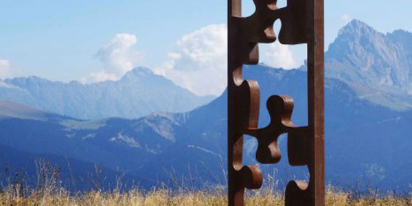 sculture alle dolomiti THE MISSING PIECE