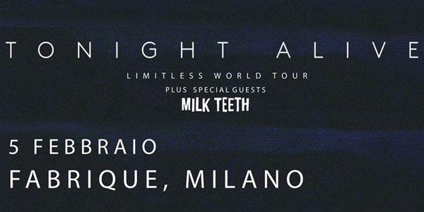 Tonight Alive: un concerto a Milano a febbraio 2016 – biglietti