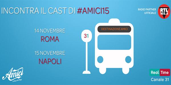 Amici di Maria De Filippi in mini tour a Roma e Napoli