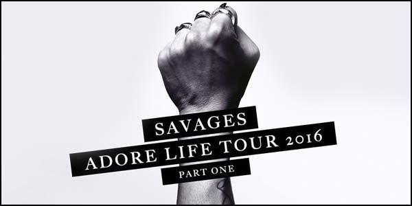 savages concerto marzo 2016