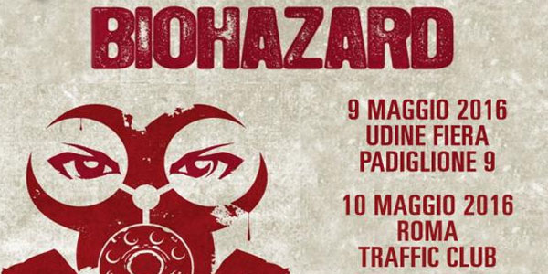 Biohazard concerti 2016