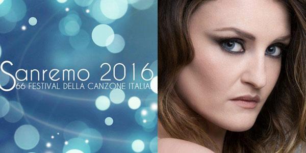 Irene Fornaciari in gara al Festival di Sanremo 2016 con il brano Blu