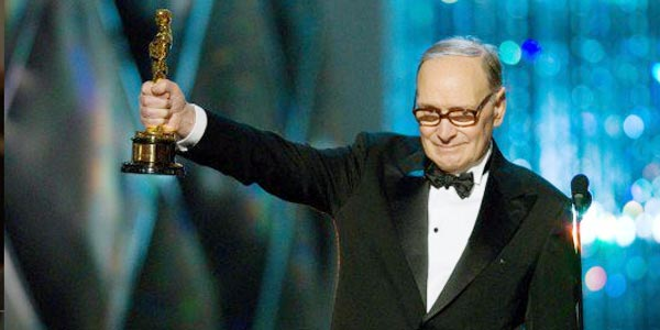 Ennio Morricone vince l'Oscar 2016 per la colonna sonora di The Hateful Eight