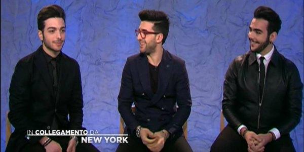 Il Volo alla finale di Sanremo 2016 in collegamento da New York – video