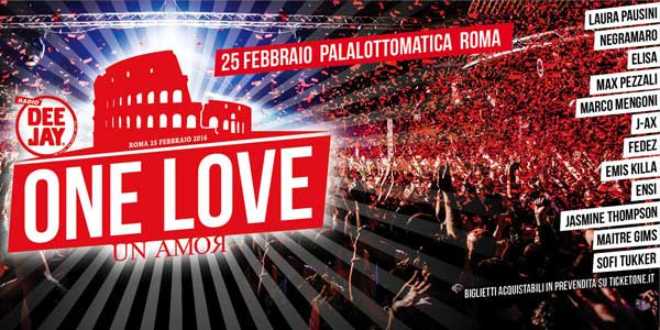 Radio Deejay: come seguire in radio e in tv l'evento One Love Un Amor
