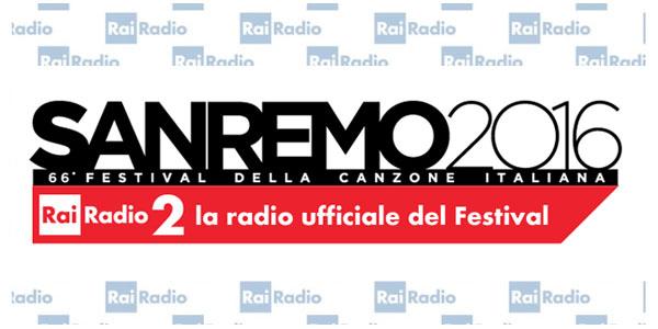 sanremo 2016 logo radio 2 rai