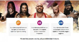 WWE Live WrestleMania Revenge concorso sky