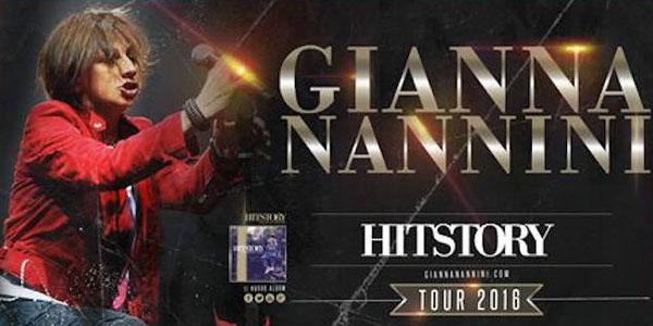 Gianna Nannini: da oggi tre concerti in Sicilia con il suo Hitstory Tour 2016