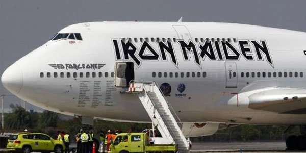 iron maiden incidente aereo
