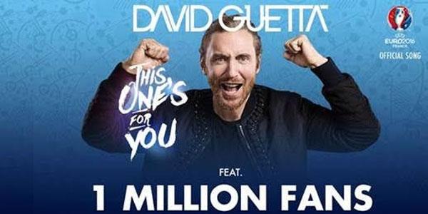 David Guetta: oltre 1 milione i fan cantano nell'inno della UEFA EURO 2016