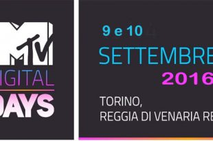 MTV Digital Days 2016 torino venaria reale