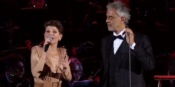 Alessandra Amoroso duetta con Andrea Bocelli alla Bocelli and Zanetti Night – video