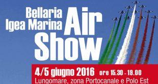 Le Frecce Tricolori Air show a Bellaria Igea Marina il 4 e 5 giugno 2016