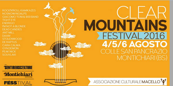 Clear Mountains Festival agosto 2016
