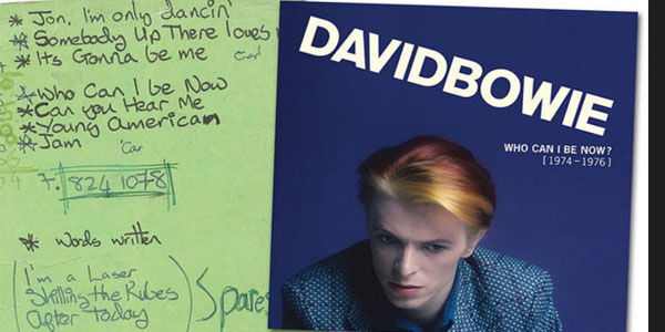 david bowie raccolta Who Can I Be Now?