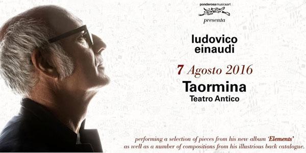 Ludovico Einaudi in concerto oggi 7 agosto a Taormina