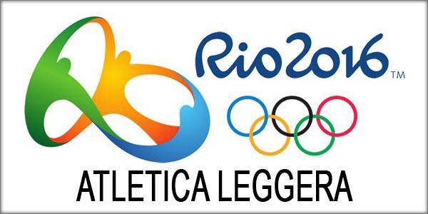 Olimpiadi Rio 2016 Atletica orari gare