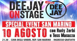 Radio Deejay on stage the kolors morgan