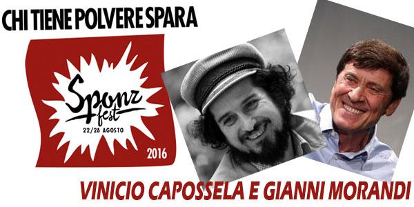 VINICIO CAPOSSELA GIANNI MORANDI sponz fest