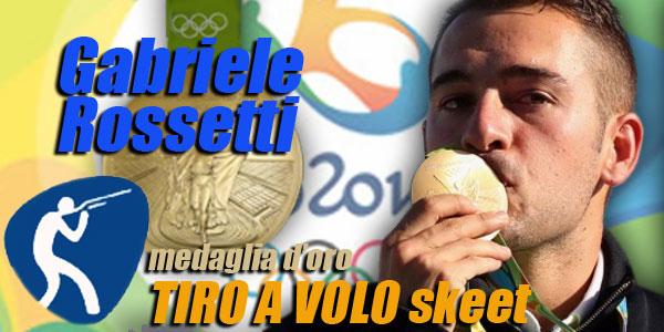 Olimpiadi Rio 2016: Gabriele Rossetti medaglia d'oro nel Tiro a Volo Skeet