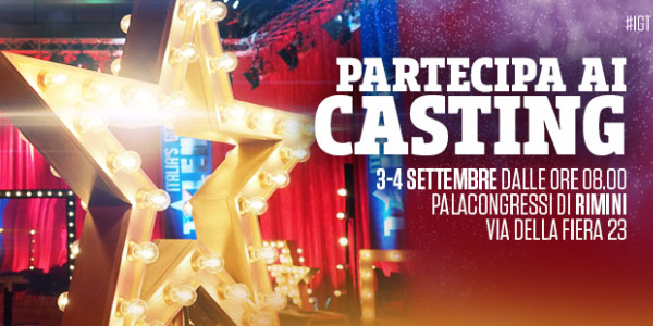 italia s got talent casting rimini