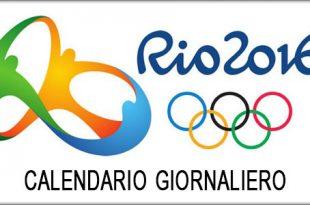 olimpiadi rio 2016 gare oggi