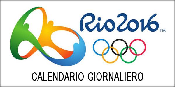 Olimpiadi Rio 2016: calendario giornaliero completo, orari e gare