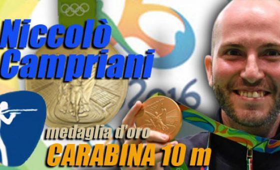 olimpiadi rio 2016 niccolo campriani oro