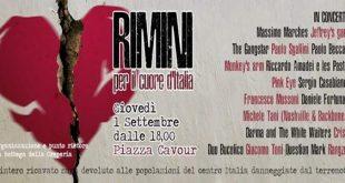 rimini per il cuore d italia concerto terremoto