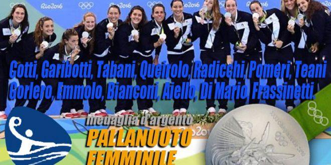 rio 2016 pallanuoto femminile argento