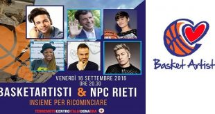 BasketArtisti & Npc a Rieti per terremoto