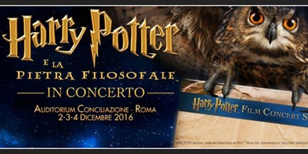 Harry Potter e la Pietra Filosofale: l'evento musicale a Roma in dicembre – biglietti
