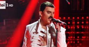 Tale e Quale Show Francesco Cicchella imita Freddie Mercury