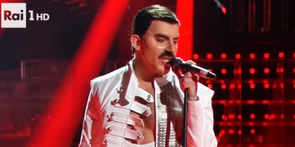 Tale e Quale Show: Francesco Cicchella imita Freddie Mercury- video